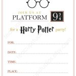 Pindrevio Invitation On Free Printable Birthday Invitation In   Harry Potter Birthday Invitations Free Printable