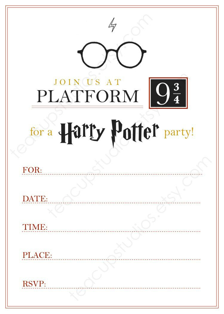 Pindrevio Invitation On Free Printable Birthday Invitation In - Harry Potter Birthday Invitations Free Printable