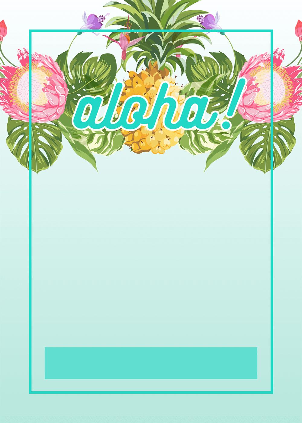 Pineapple Luau Perimeter - Free Printable Birthday Invitation - Free Printable Pineapple Invitations