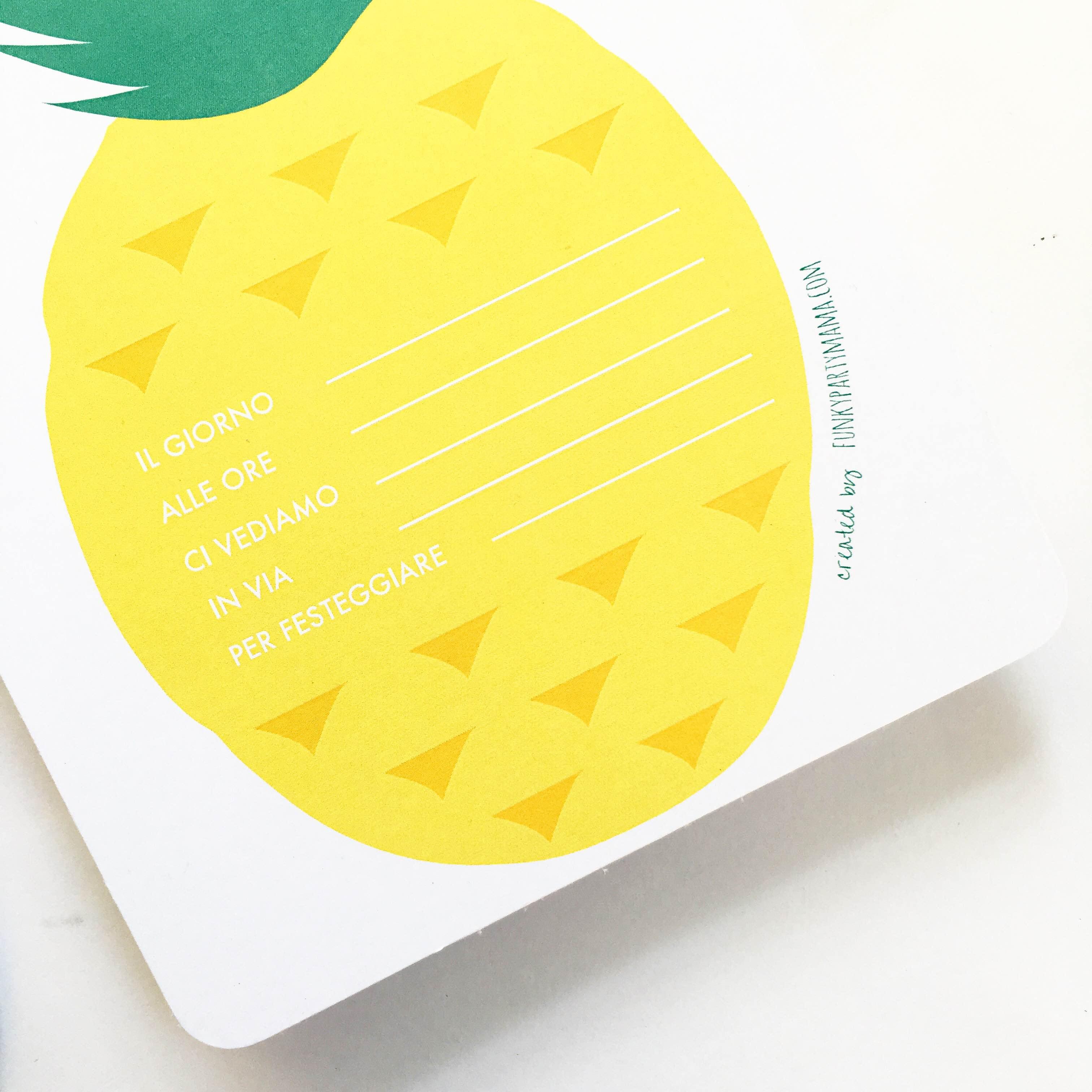 Pineapple Party - Kit Stampabile *free* - Le Civette Sul Comò - Free Printable Pineapple Invitations