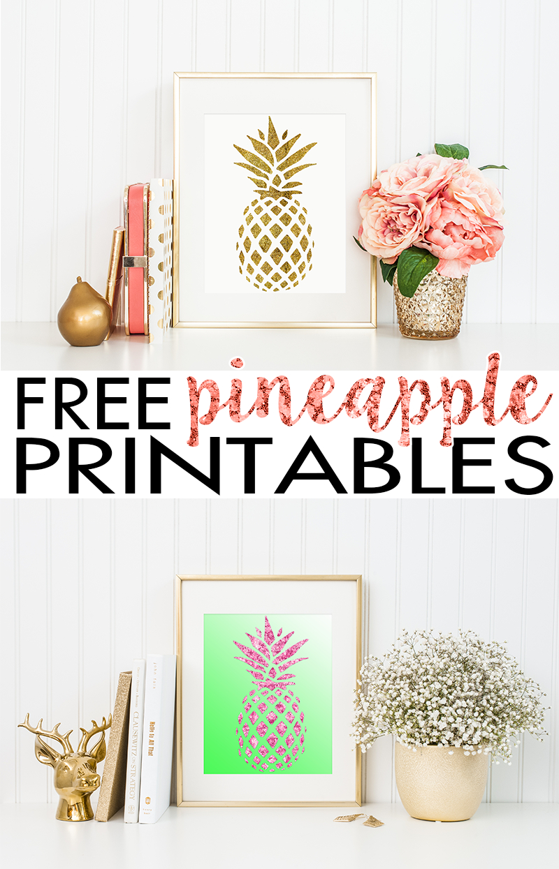 Pineapple Wall Art | Free Printable - Hairspray And Highheels - Free Printable Art