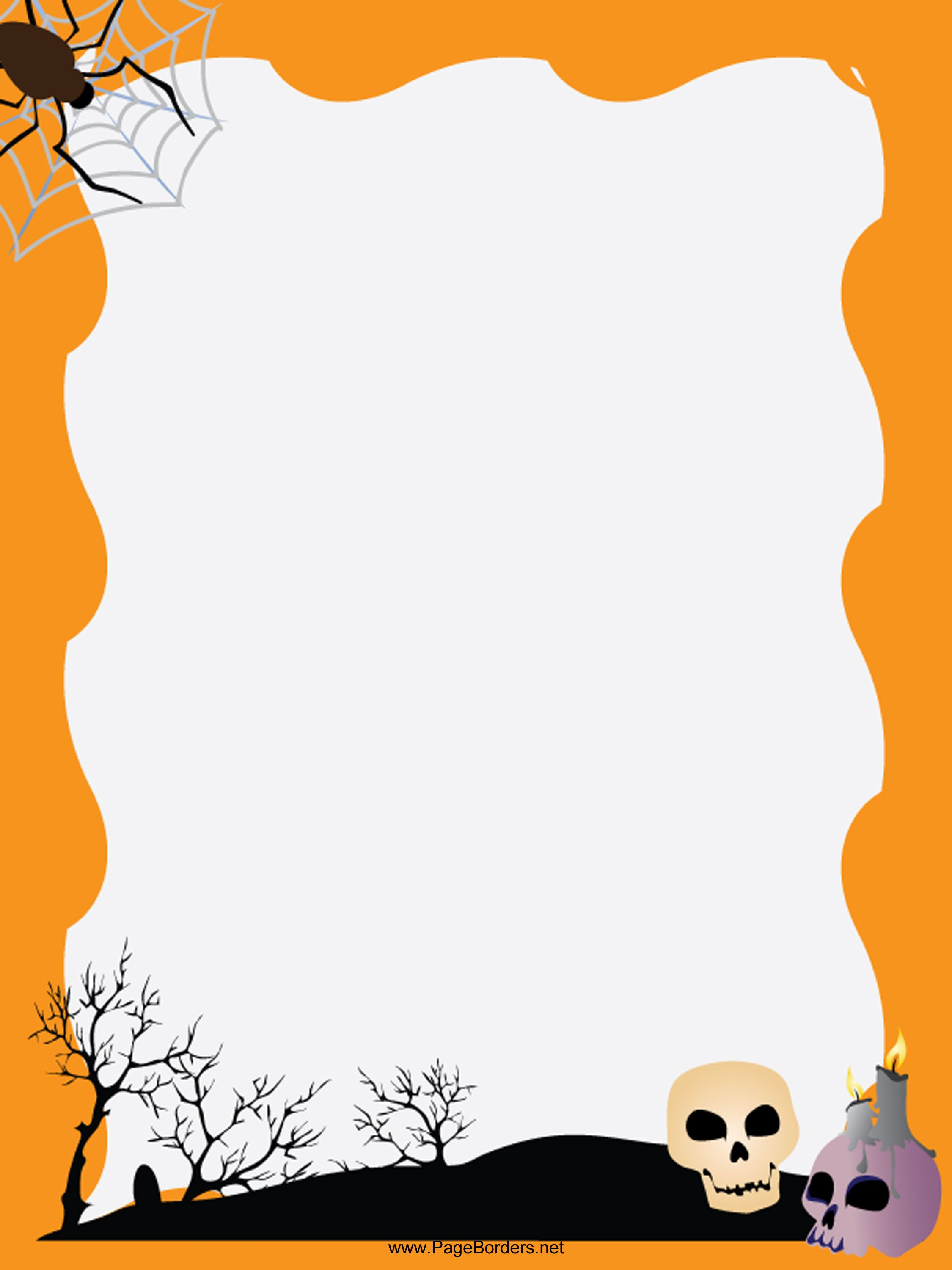 Pinerica Hall On Smash Books | Pinterest | Halloween Borders - Free Printable Halloween Stationery Borders