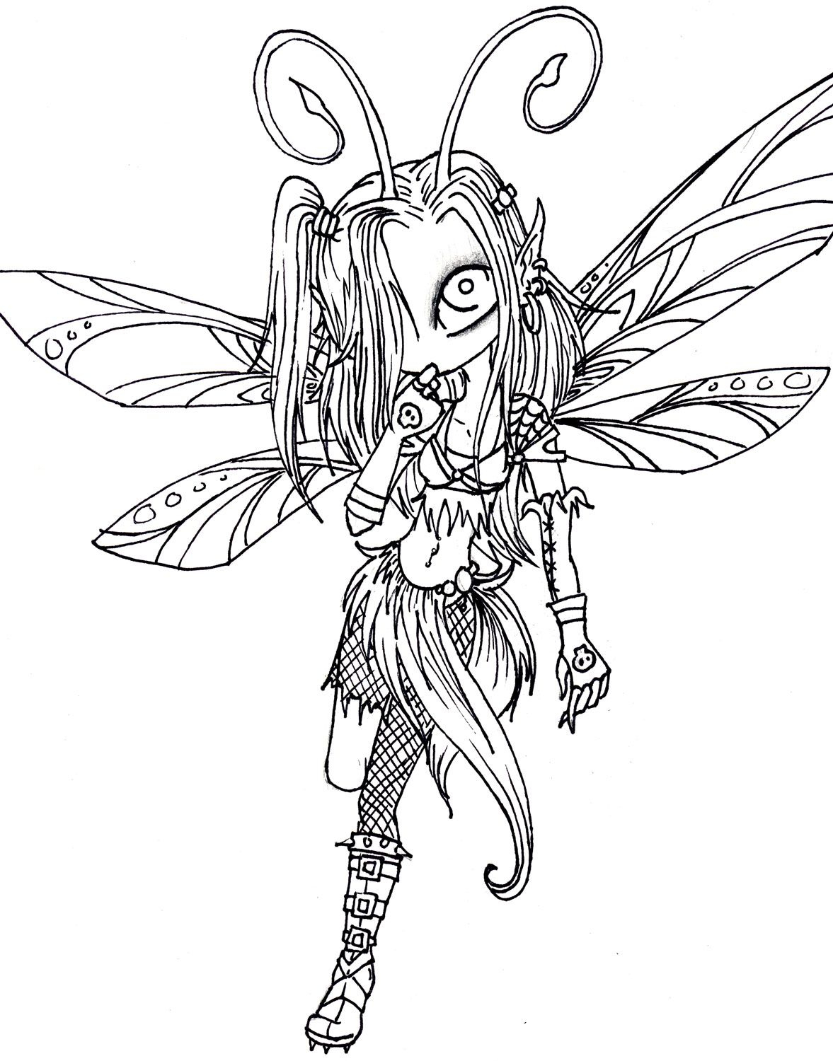 Pinjenjen S. On Art Patterns | Pinterest | Coloring Pages, Adult - Free Printable Coloring Pages For Adults Dark Fairies