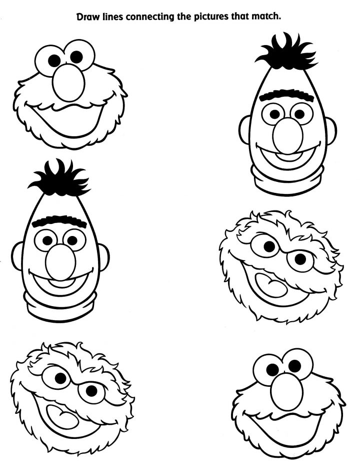 Free Printable Coloring Pages Sesame Street Characters