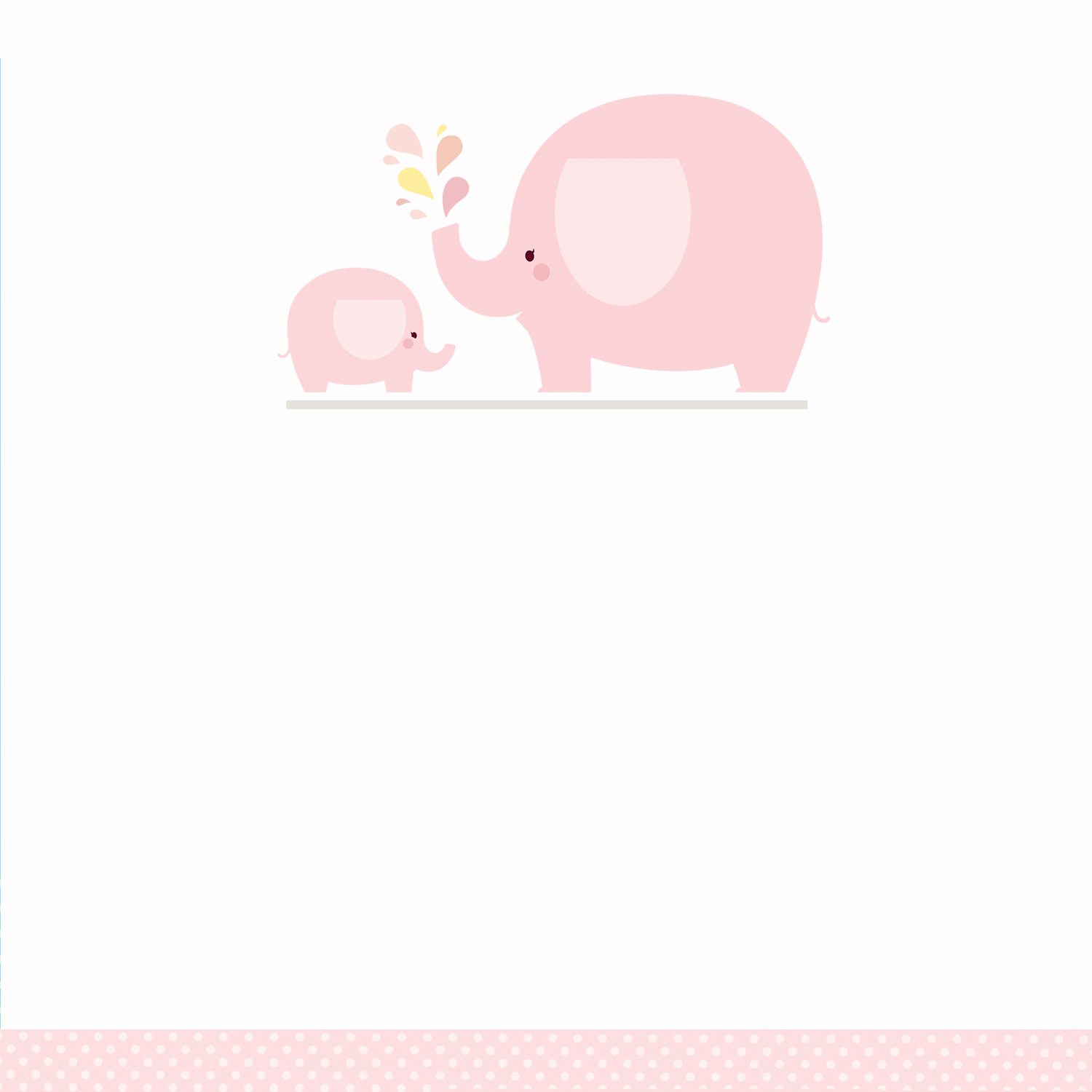Pink Baby Elephant - Free Printable Baby Shower Invitation Template - Free Printable Baby Shower Cards Templates