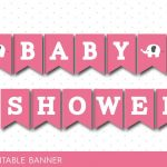 Pink Baby Shower Banner With Letters And Numbers, Elephant Printable   Free Printable Baby Shower Banner Letters