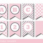 Pink Banner, Party Banner, Birthday Banner, Baby Shower Banner   Free Printable Baby Shower Banner Letters