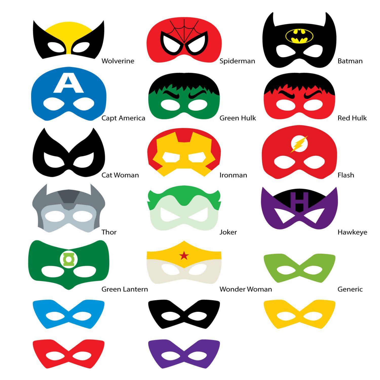 Pinkathy Mccloskey On Masks To Make | Pinterest | Superhero - Free Printable Superhero Photo Booth Props