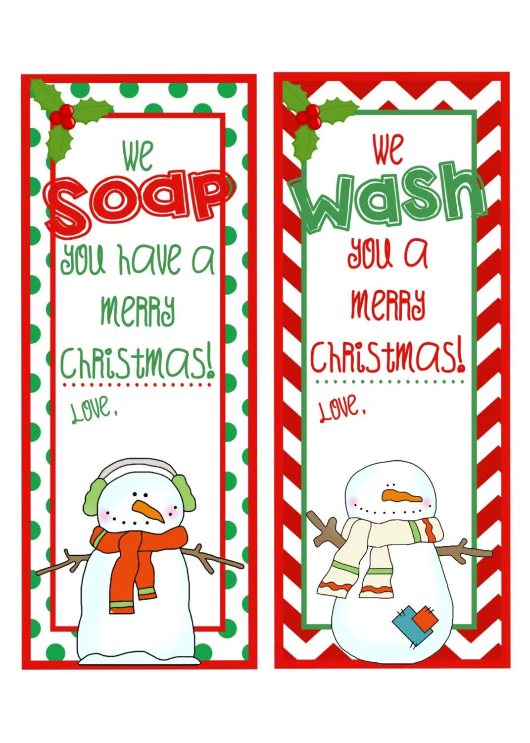 Pinkatie Gorman On Gifts And Decorations | Pinterest | Gifts - We Wash You A Merry Christmas Free Printable