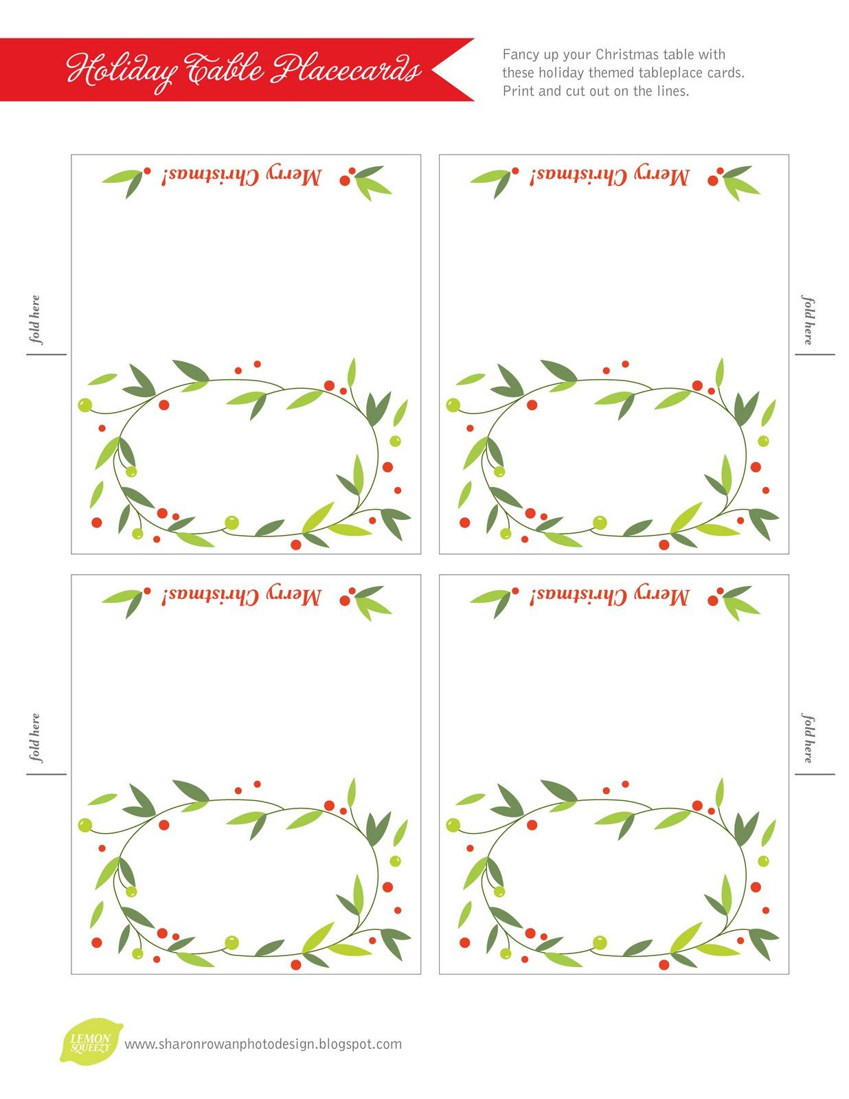 Pinkay Kostrencich On Event Ideas | Pinterest | Christmas Place - Christmas Table Name Cards Free Printable
