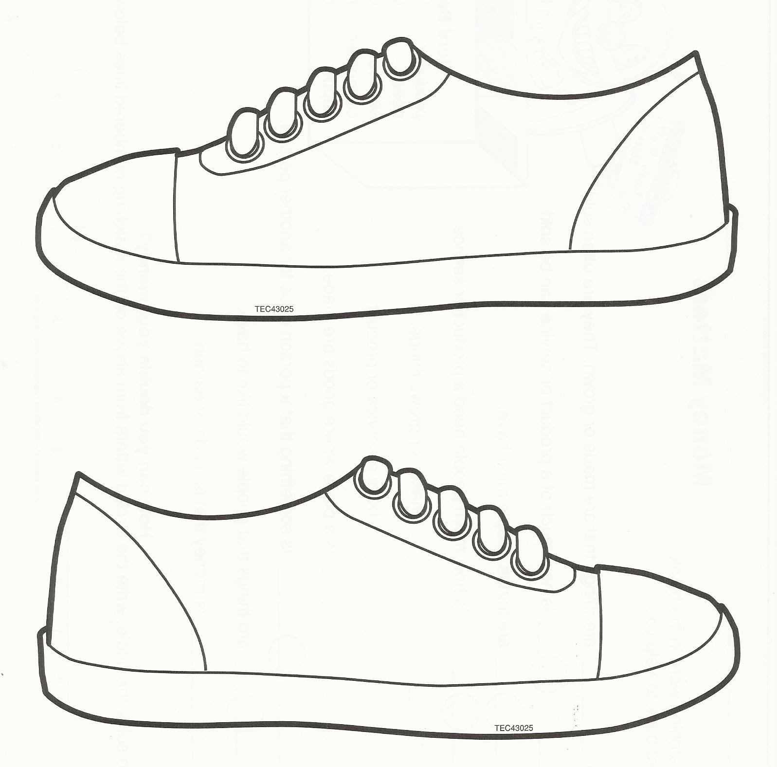 Pinkim Bryant On Sub Plans | Sneaker Art, Shoe Template, Shoe Art - Free Printable Shoe Print Template