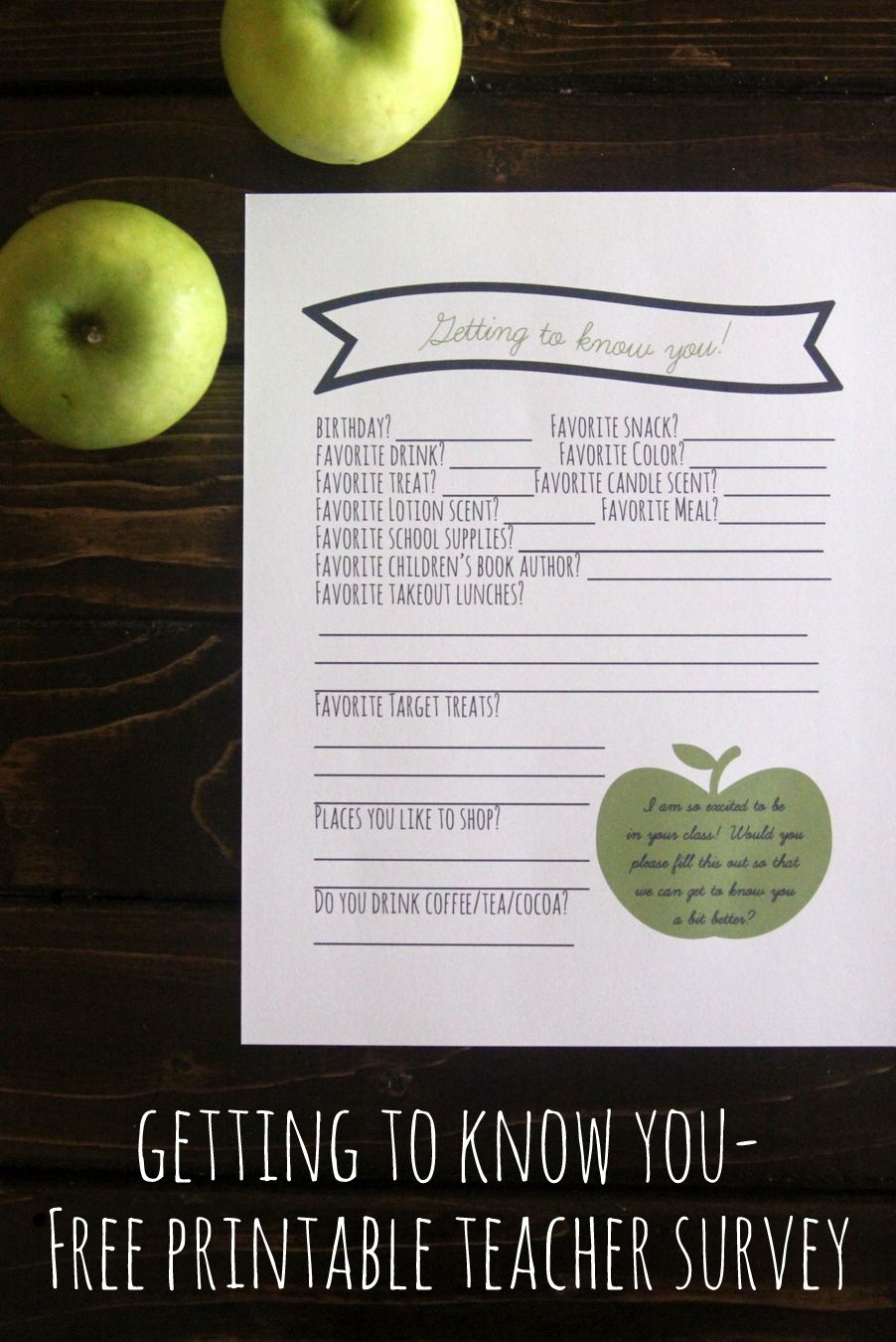 Pinkirstin Gentry On Kojodesigns | Pinterest | Teacher Favorite - Free Printable Survey Generator