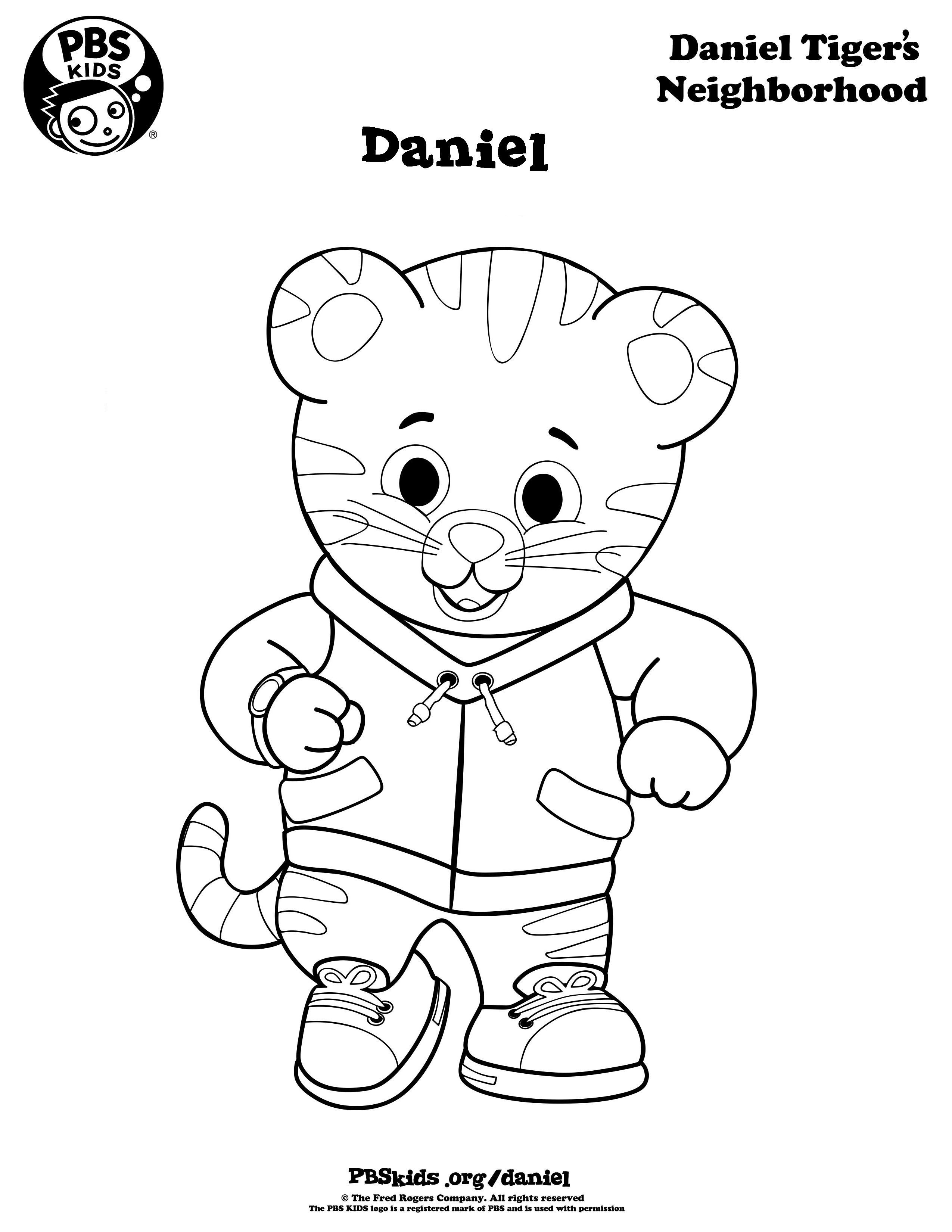 Pinkristen Miller On Noah's 1St Birthday | Pinterest | Daniel - Free Printable Daniel Tiger Coloring Pages