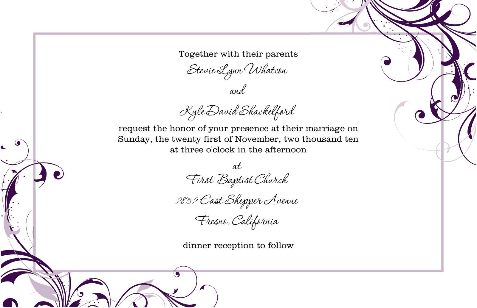 Pinmarina On Wedding Invitation Letter In 2019   Free Wedding - Free Printable Wedding Invitation Templates For Word