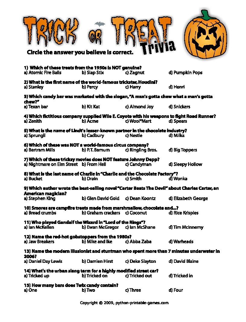 Pinmary Anne On Christmas Fun | Pinterest | Halloween, Halloween - Halloween Trivia Questions And Answers Free Printable