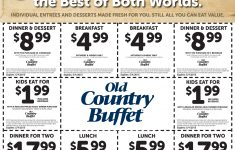 Pinned April 27Th: $2 Kids $5 Breakfast $6 Lunch & More At Old - Old Country Buffet Printable Coupons Buy One Get One Free
