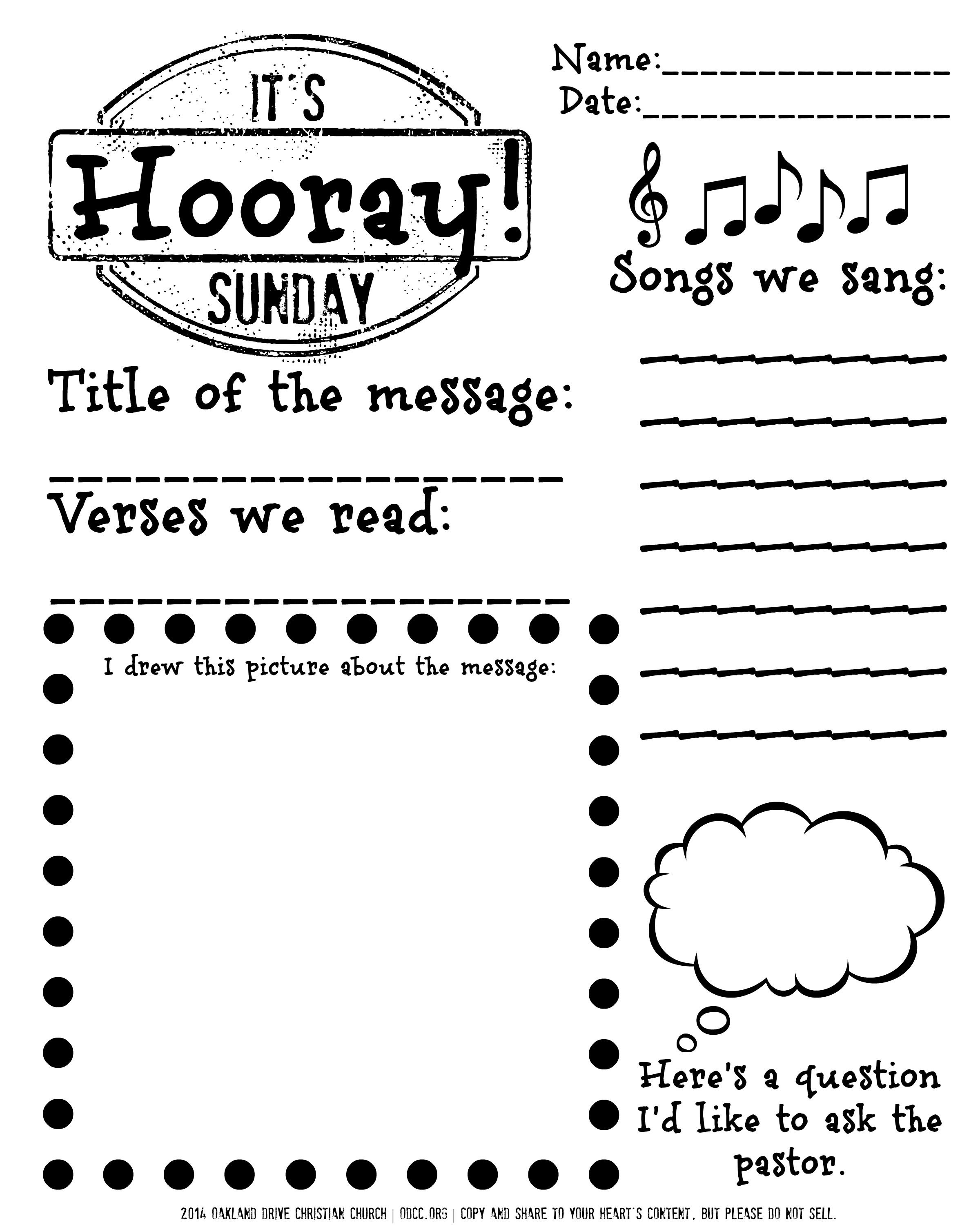 Pinnichole On Children's Ministry | Pinterest | Sermon Notes - Free Printable Easter Sermons