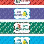 Pinroxy Pelonia On Zoe's 1St Bday | Pinterest | Mermaid Happy   Free Printable Little Mermaid Water Bottle Labels