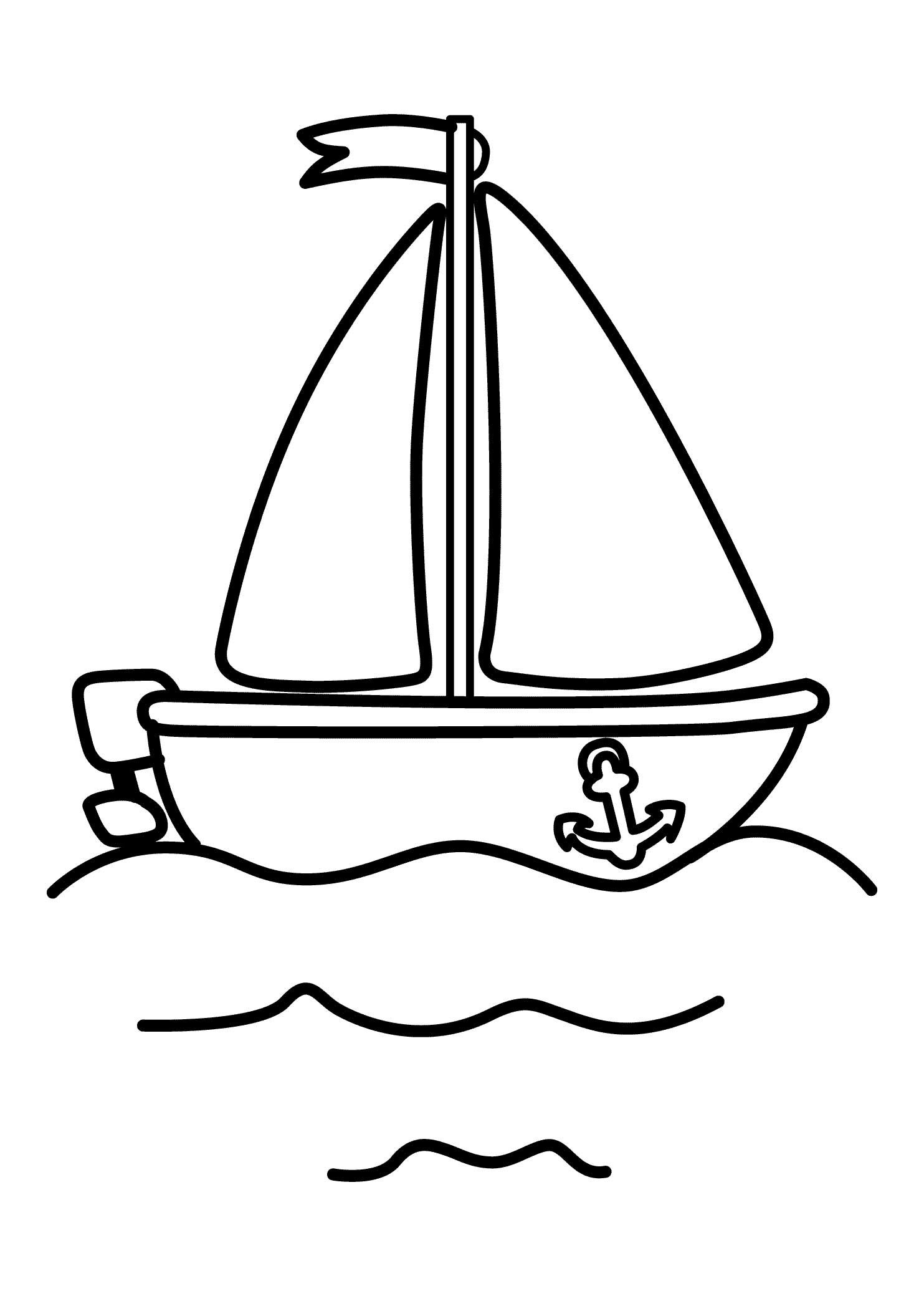 Pinshreya Thakur On Free Coloring Pages | Pinterest | Coloring - Free Printable Boat Pictures