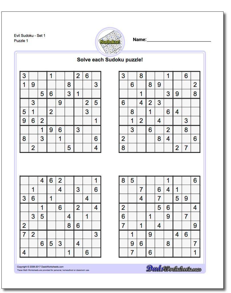 Pinwhispertech On Math Answers   Math Worksheets, Math, Worksheets - Free Printable Sudoku With Answers