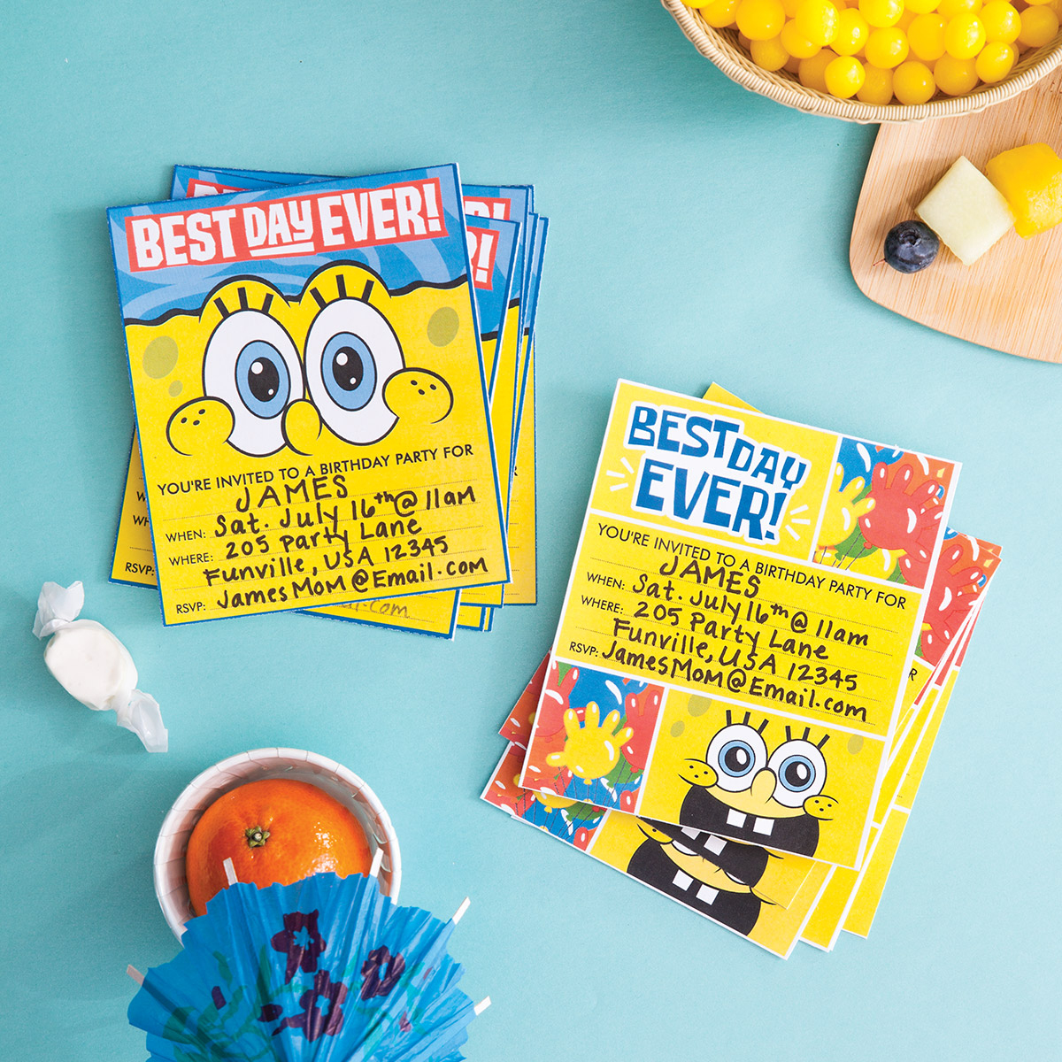 Plan A Spongebob Squarepants Party | Nickelodeon Parents - Spongebob Free Printable Invitations