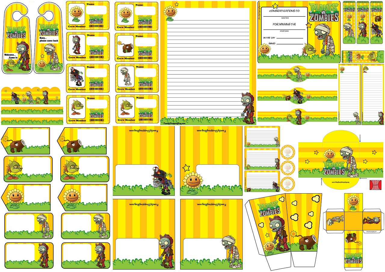 Plants Vs Zombies Free Printables. - Oh My Fiesta! For Geeks - Plants Vs Zombies Free Printable Invitations