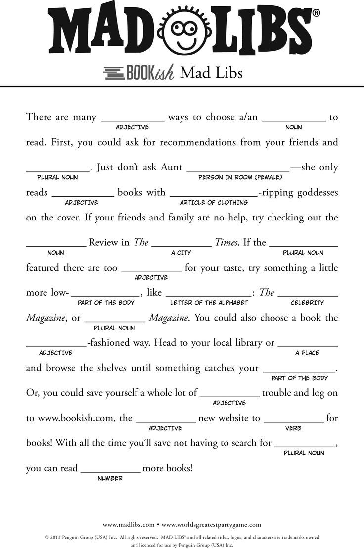 Play This Mad Lib At A Baby Shower - Mad Libs Online Printable Free