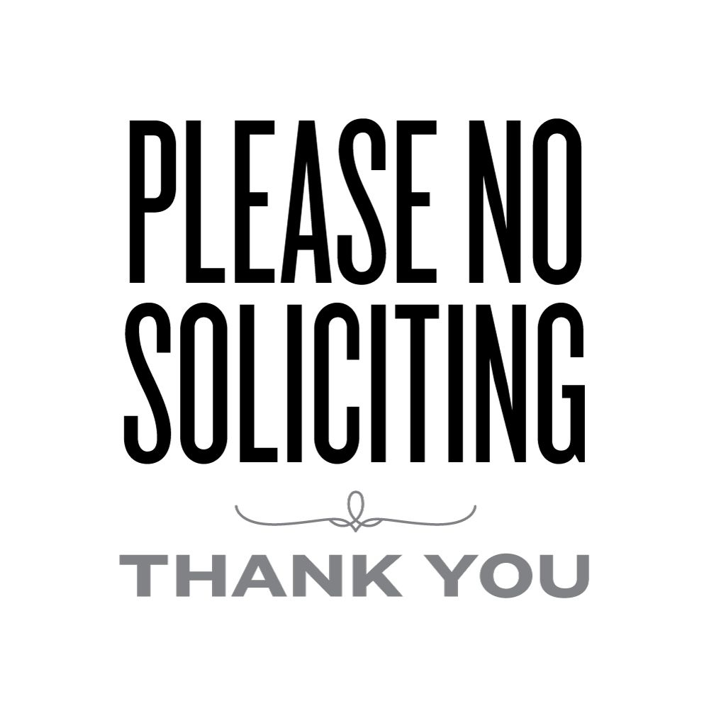 Please No Soliciting | Lemon Squeezy | Printables & Fonts - Free Printable No Soliciting Sign