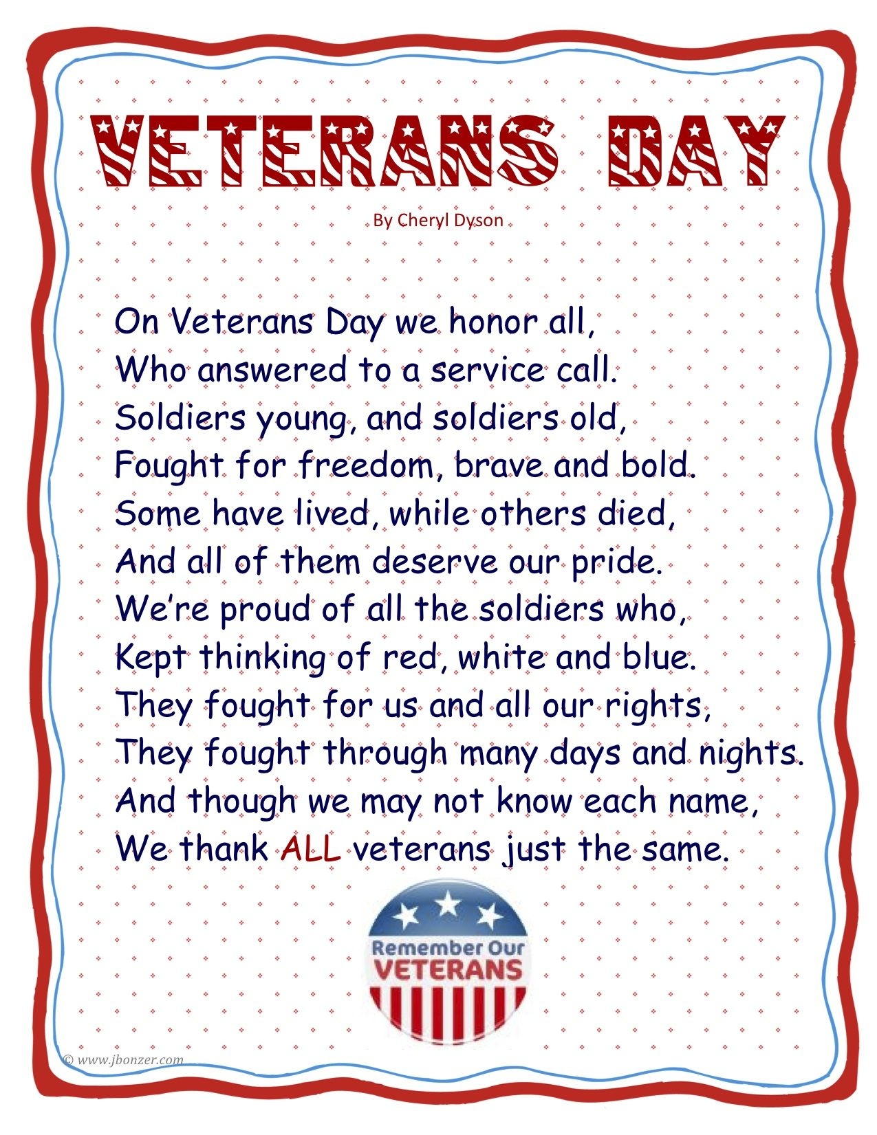 Point Of View Books And Veterans Day Lesson Planning | Seasonal - Veterans Day Free Printable Cards