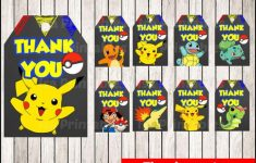 Pokemon Birthday Party Printable Tags And Labels | Birthday Wikii – Free Printable Pokemon Thank You Tags
