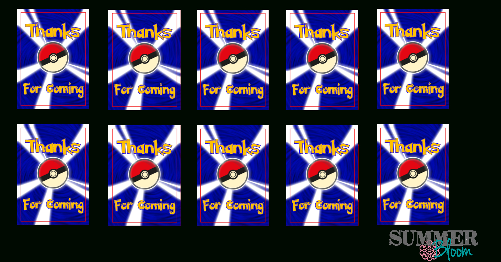 Pokemon Birthday Party Thank You Tags With Freebies ~ From - Free Printable Pokemon Thank You Tags