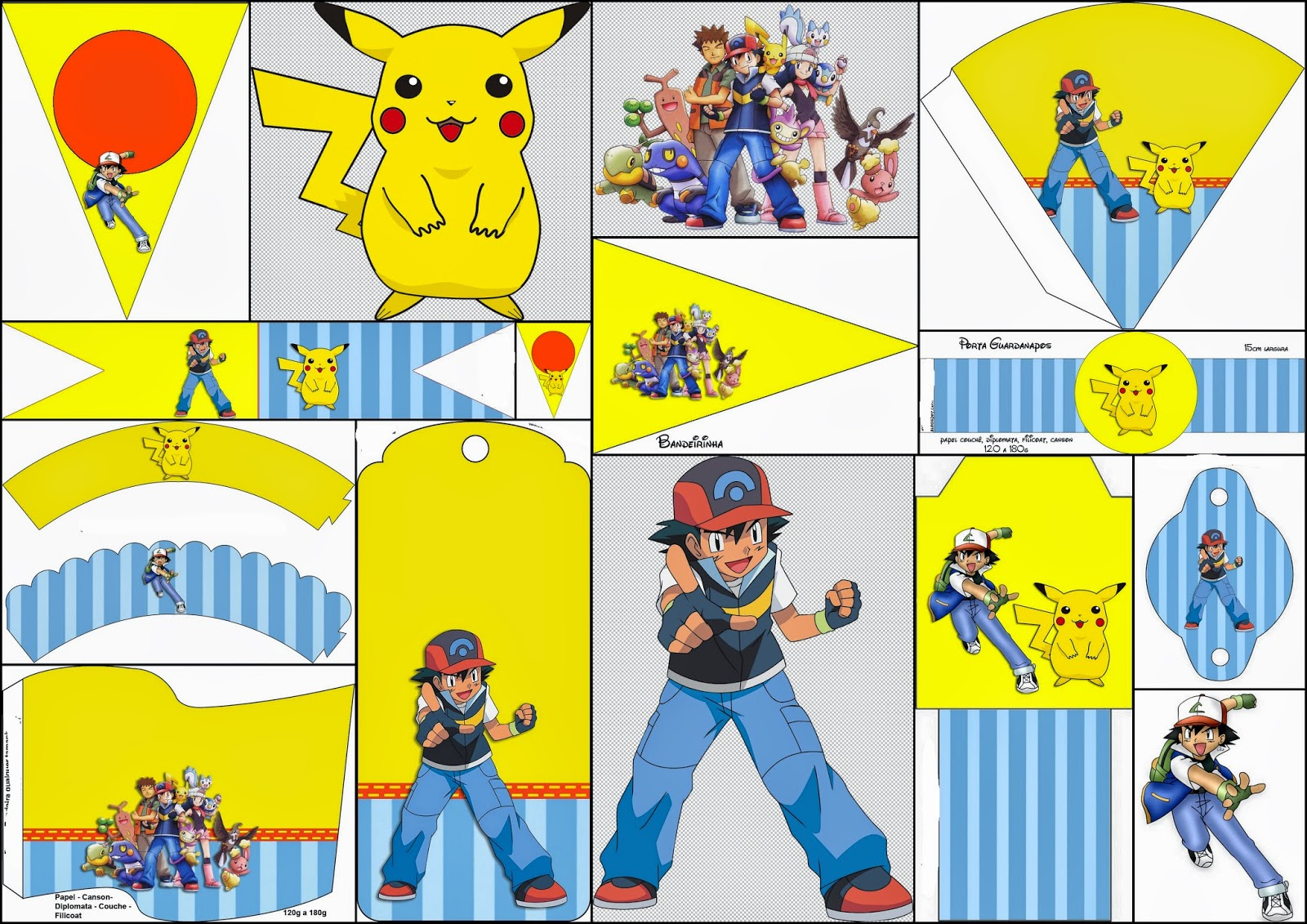 Pokemon: Free Party Printables And Images. - Oh My Fiesta! For Geeks - Free Printable Pokemon Thank You Tags