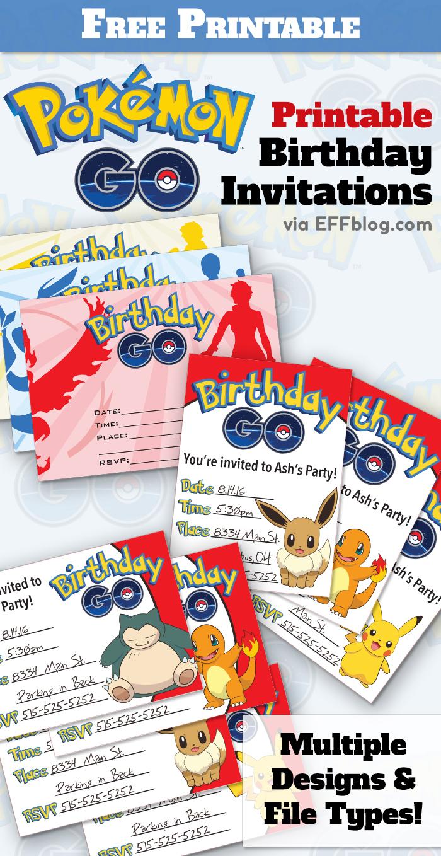 Pokémon Go: Birthday Go Free Printable Invitations - Free Printable Pokemon Birthday Invitations