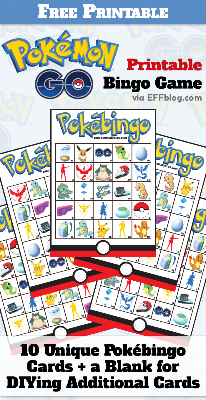 Pokémon Go: Pokébingo Free Printable Bingo Game - Free Printable Bingo Games