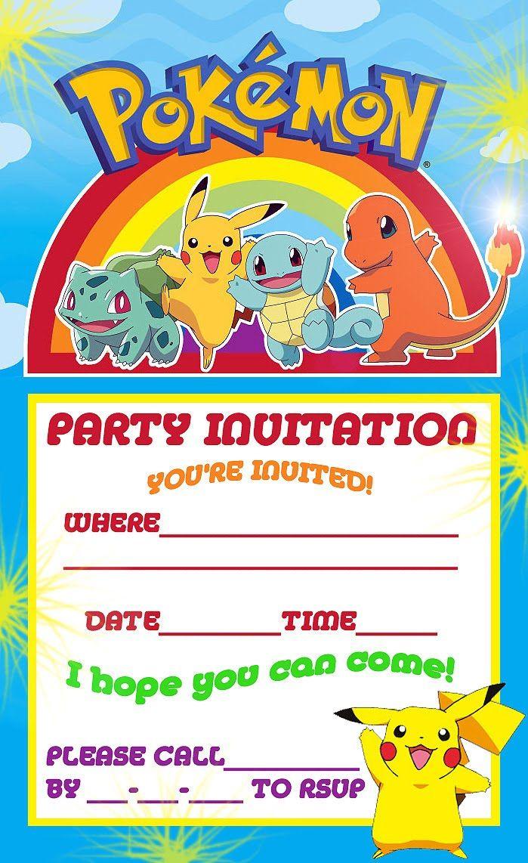 Pokemon Theme For A Kid's Birthday Party   Birthday Aayu   Pinterest - Free Printable Pokemon Birthday Invitations