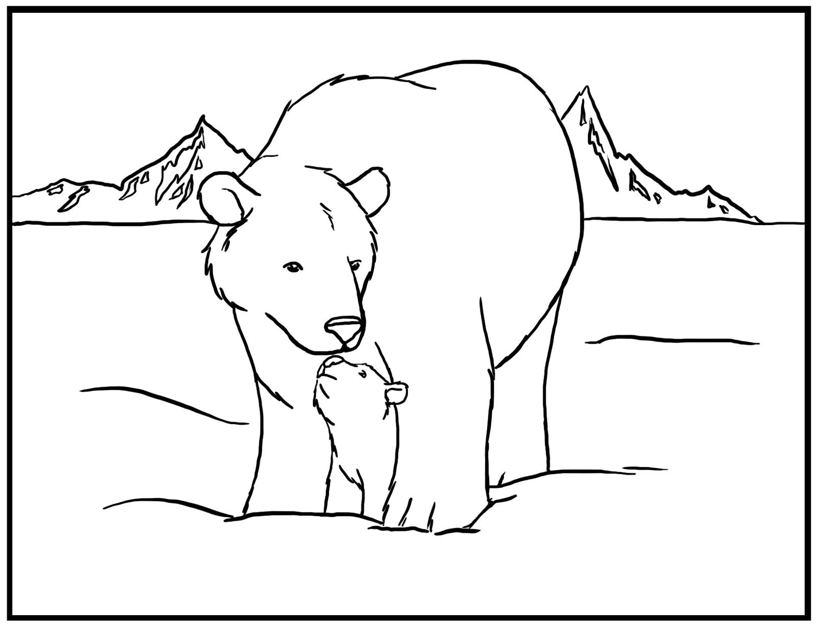 Polar Bear Coloring Pages Free | Diywordpress - Polar Bear Printable Pictures Free