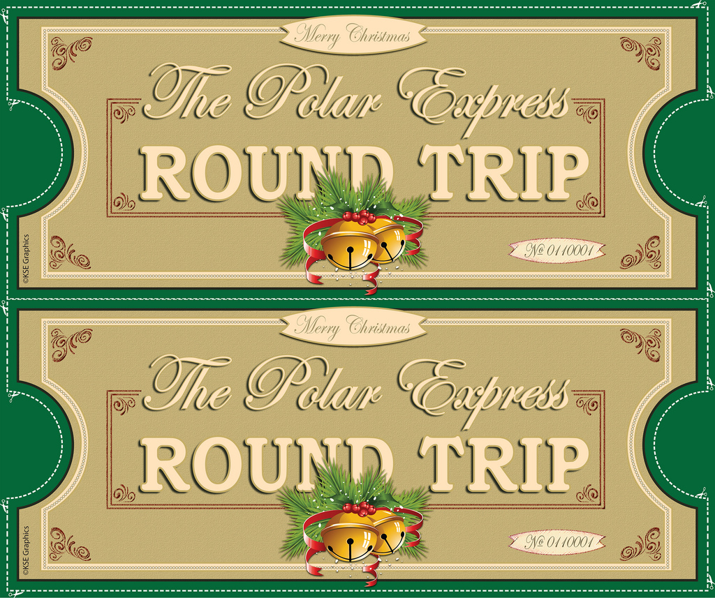 Polar Express Tickets Front 2Up Green | Free Printable Polar… | Flickr - Free Polar Express Printable Tickets