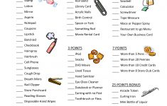 Free Printable Bridal Shower Games What's In Your Purse