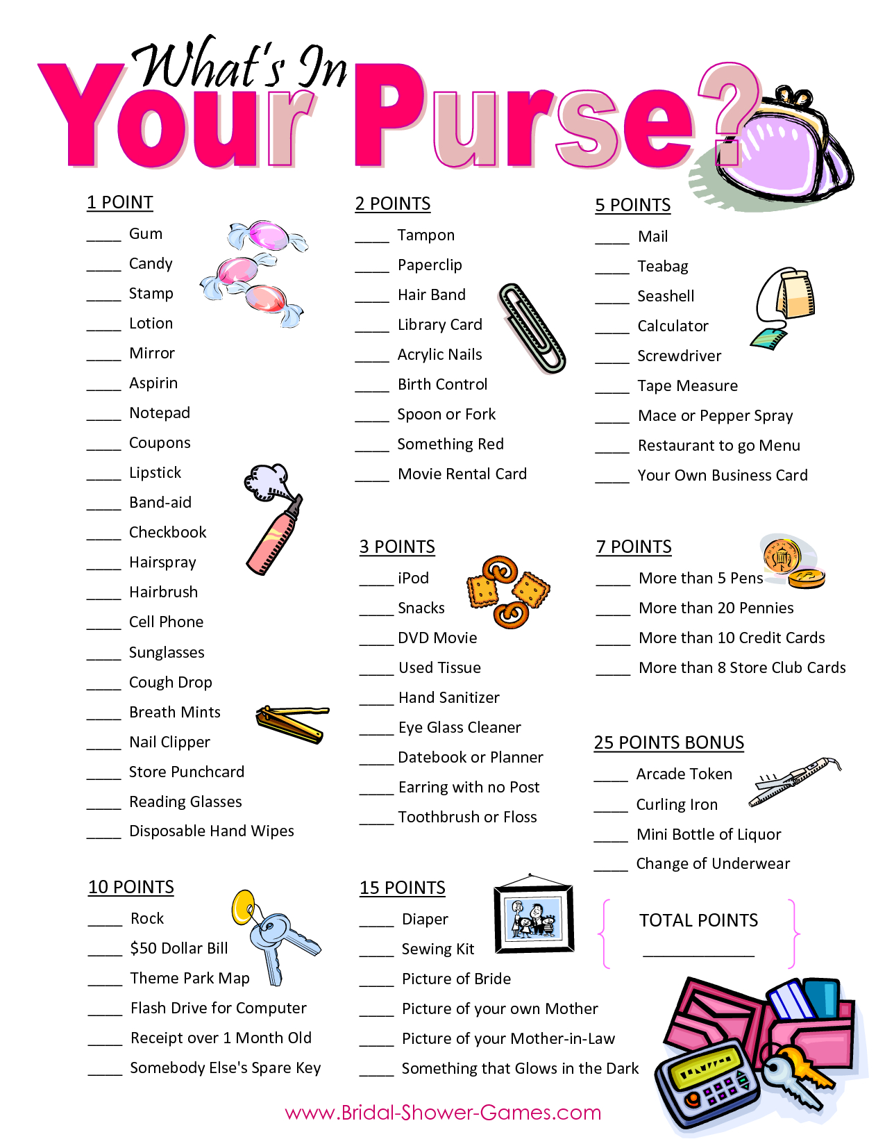 Popular Wedding Shower Games For Free | Business Ideas | Pinterest - Free Printable Bridal Shower Games What's In Your Purse