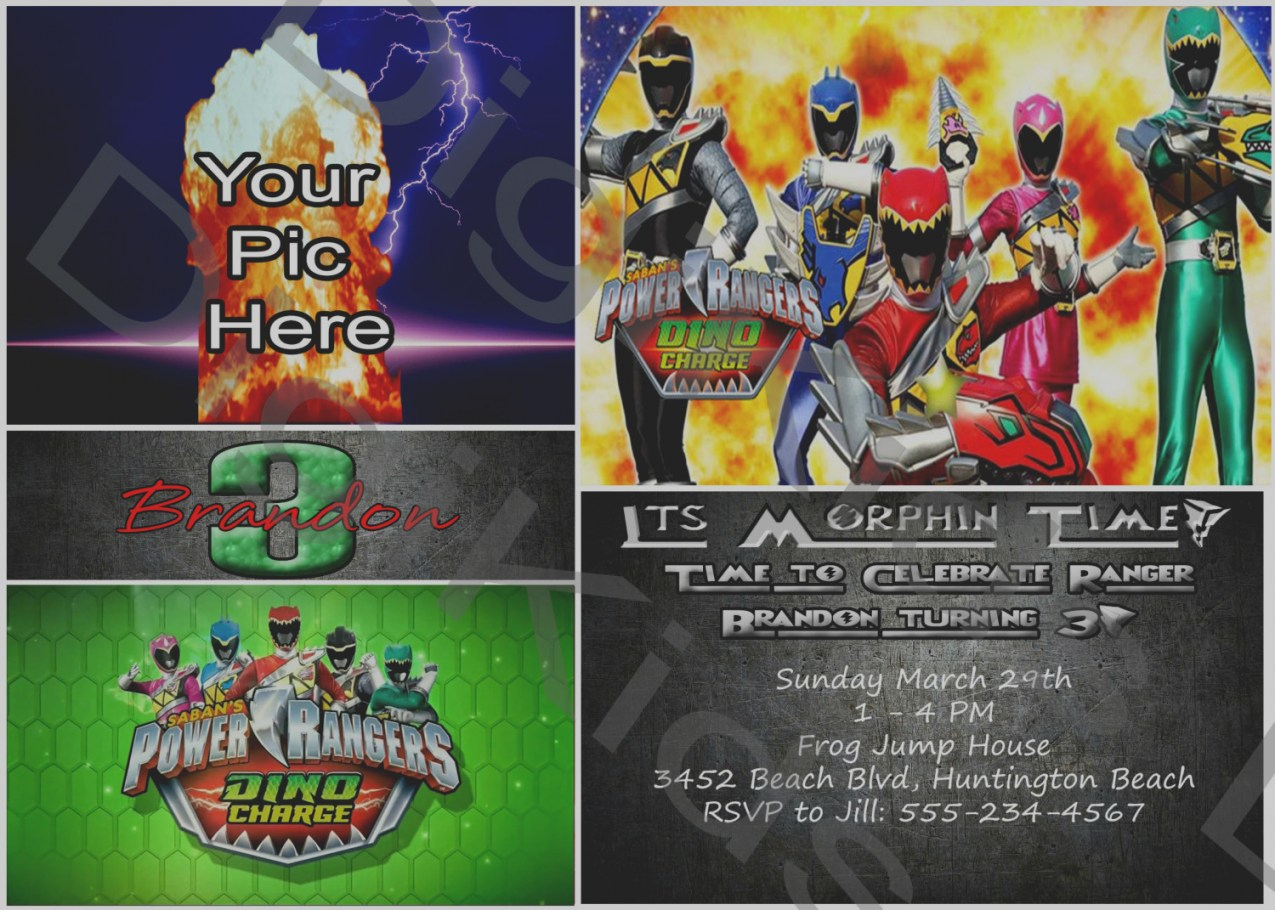 Power Ranger Birthday Invitations Bagvania Free Printable - Free Printable Power Ranger Birthday Invitations