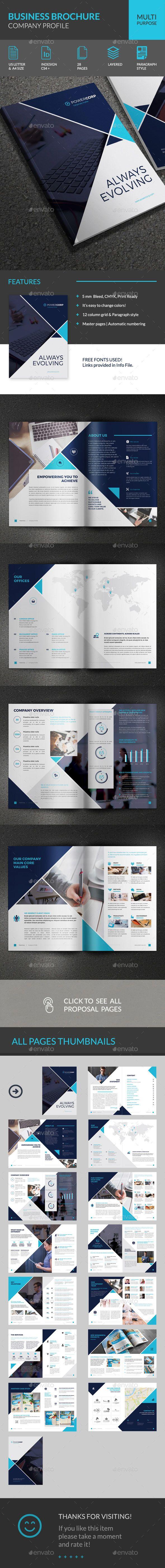 Powercorp Business Brochure - Corporate Profile - Corporate - Free Printable Brochure Templates