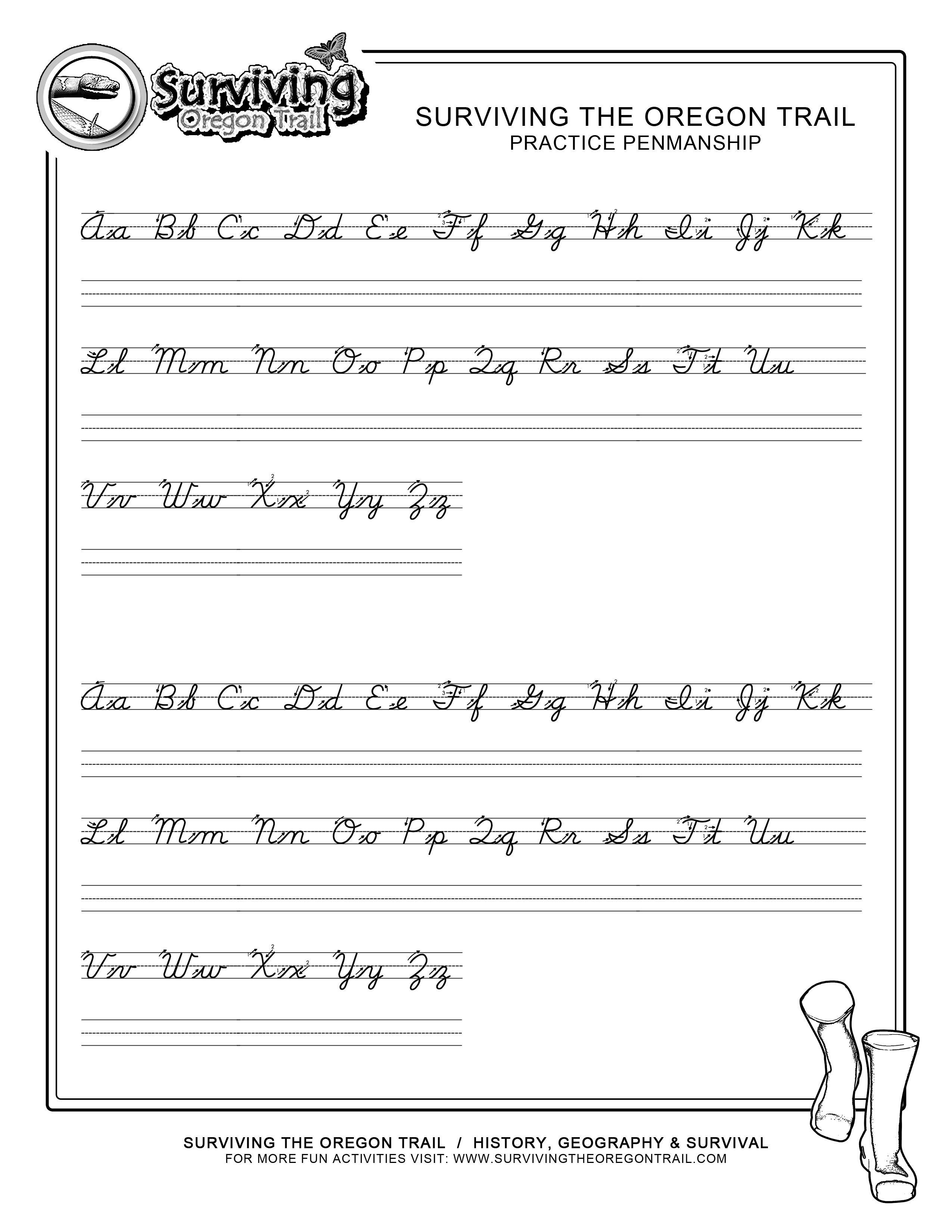 Practice Penmanship – Free Abc's Printable Cursive Writing Worksheet - Cursive Letters Worksheet Printable Free
