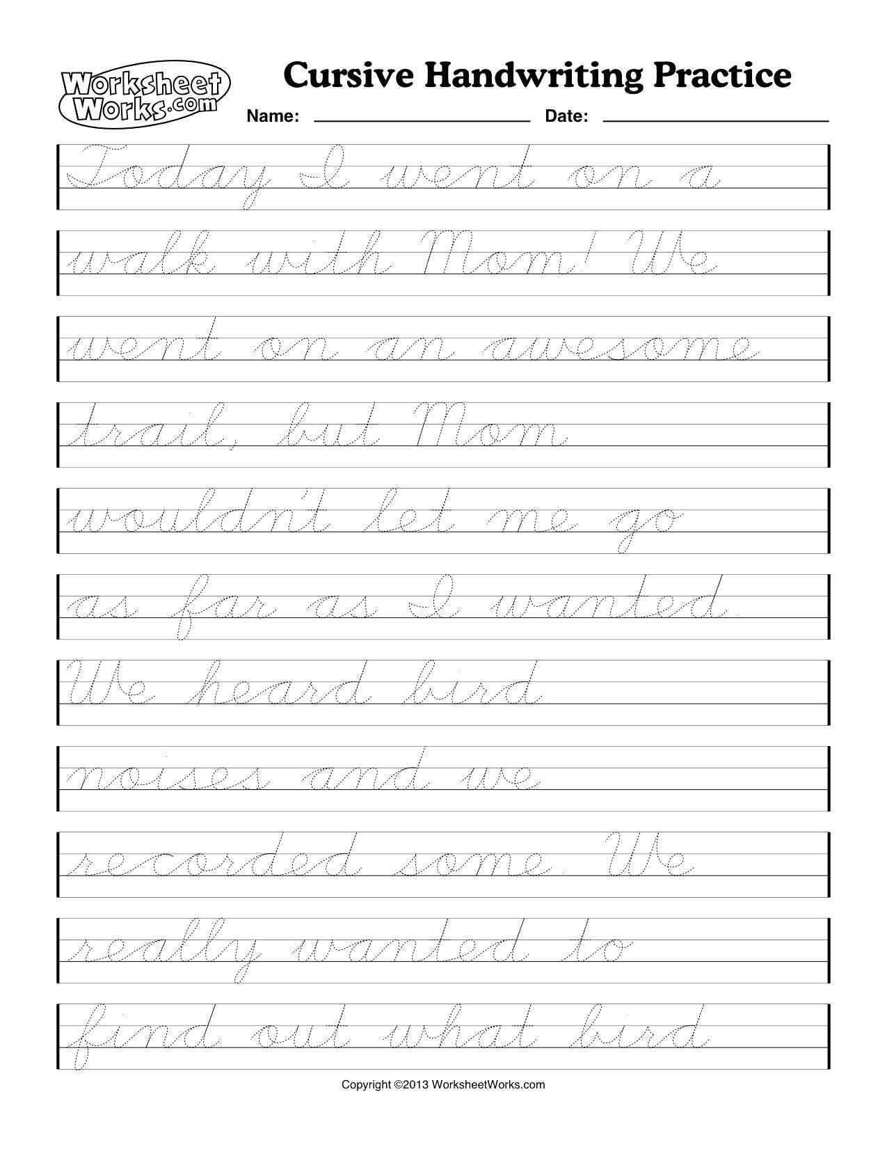 Practice Writing Cursive Letters Worksheets Practice Writing F In - Cursive Letters Worksheet Printable Free