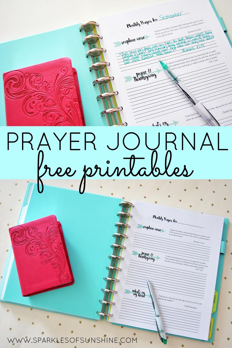 Prayer Journal Free Printables - Sparkles Of Sunshine - Free Printable Prayer List