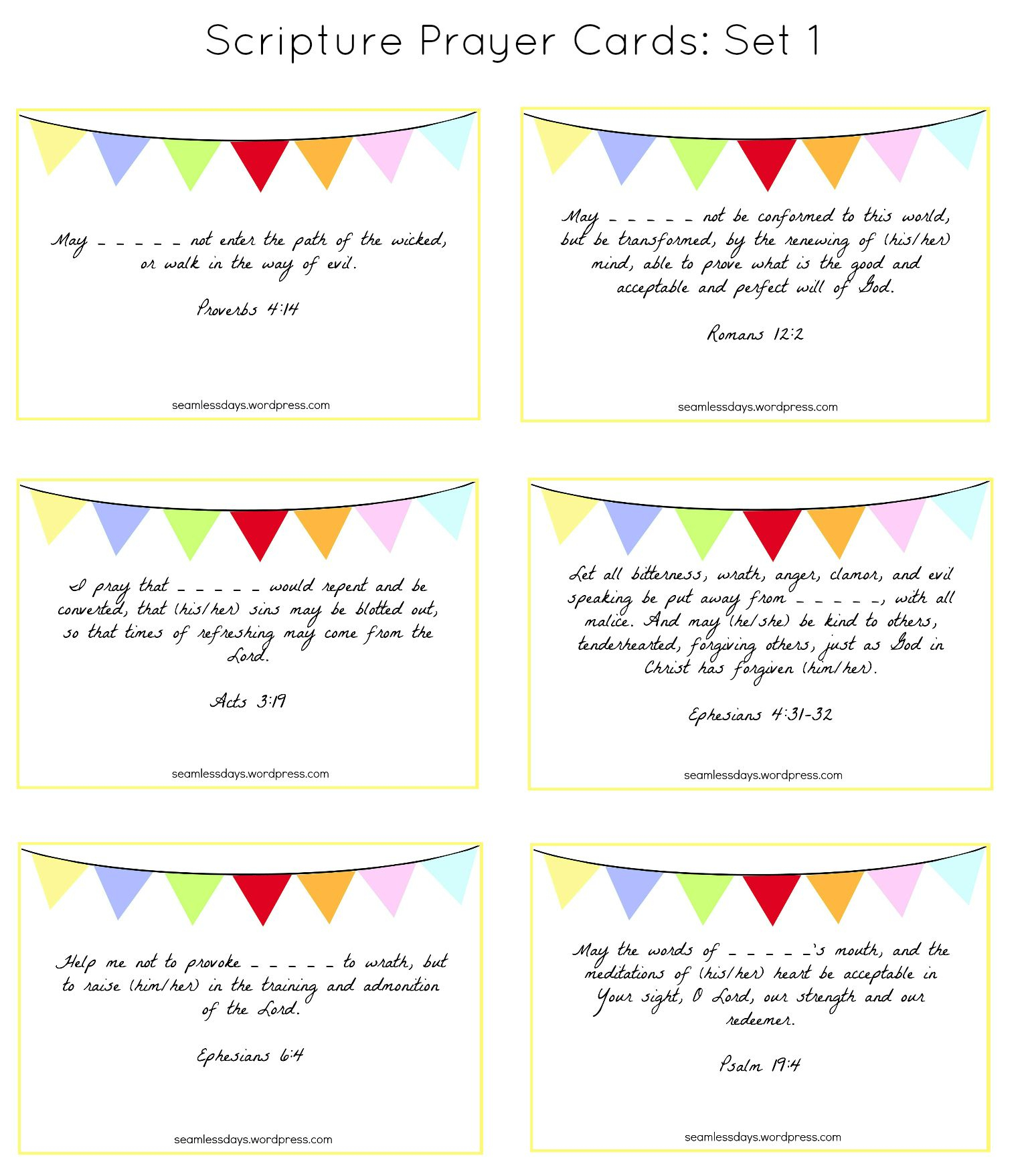 Praying For Your Children: A Free Printable | To Craft | Praying For - Free Printable Prayer Cards