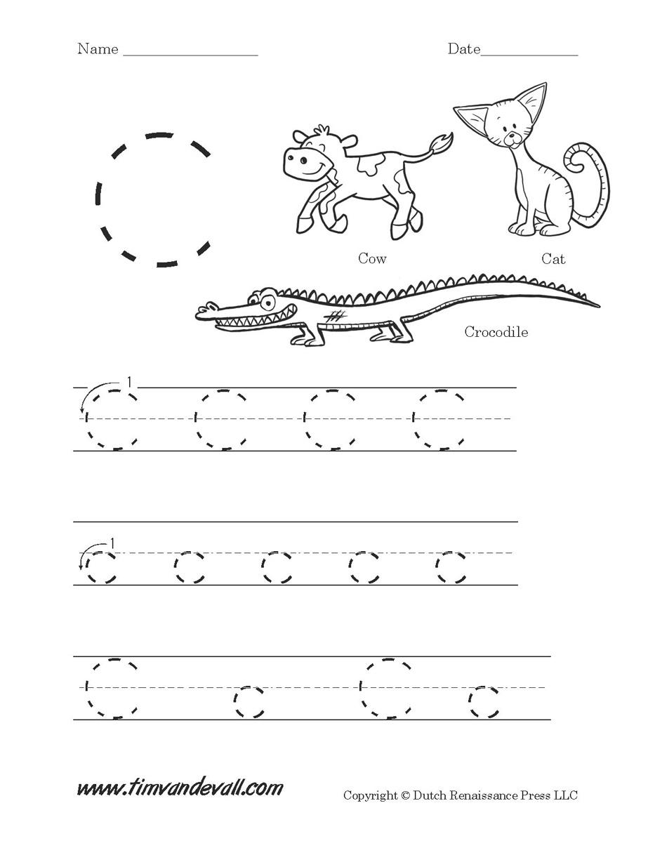 Pre K Printables Worksheets Letter C Worksheets For Pre K Printable - Free Printable Preschool Worksheets Letter C