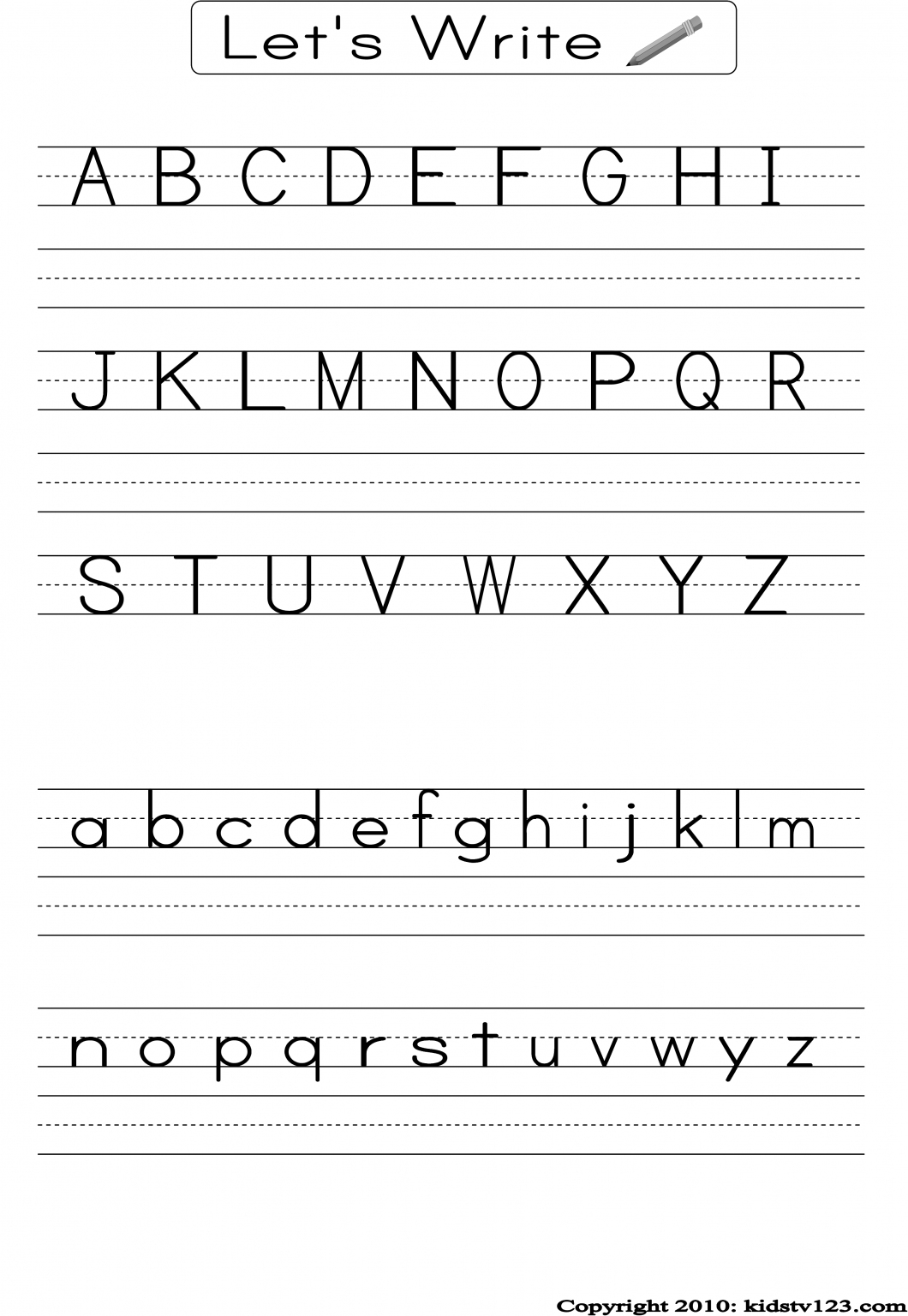 Pre K Writing Worksheets – With Free Printables Also Printable - Free Printable Handwriting Worksheets