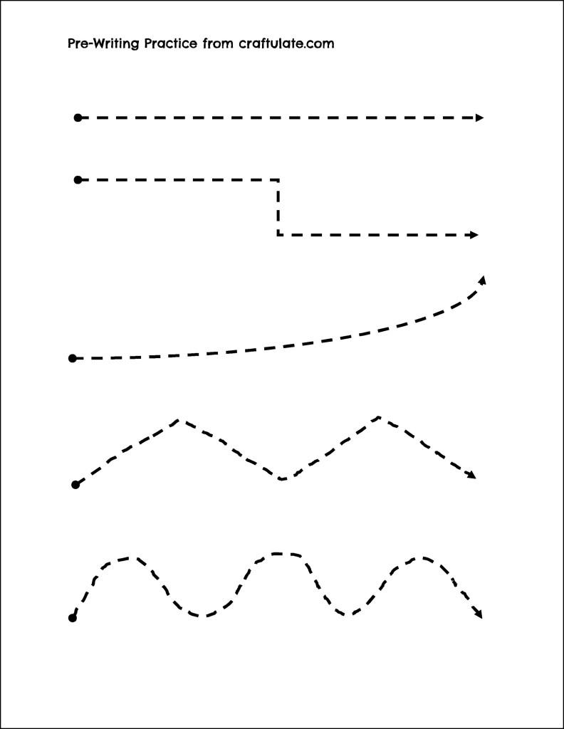 Pre-Writing Practice - Craftulate - Free Printable Fine Motor Skills Worksheets