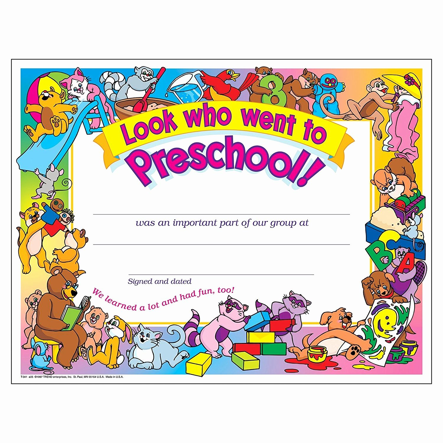 Preschool Certificate Templates Awesome Free Printable Preschool - Free Printable Children's Certificates Templates