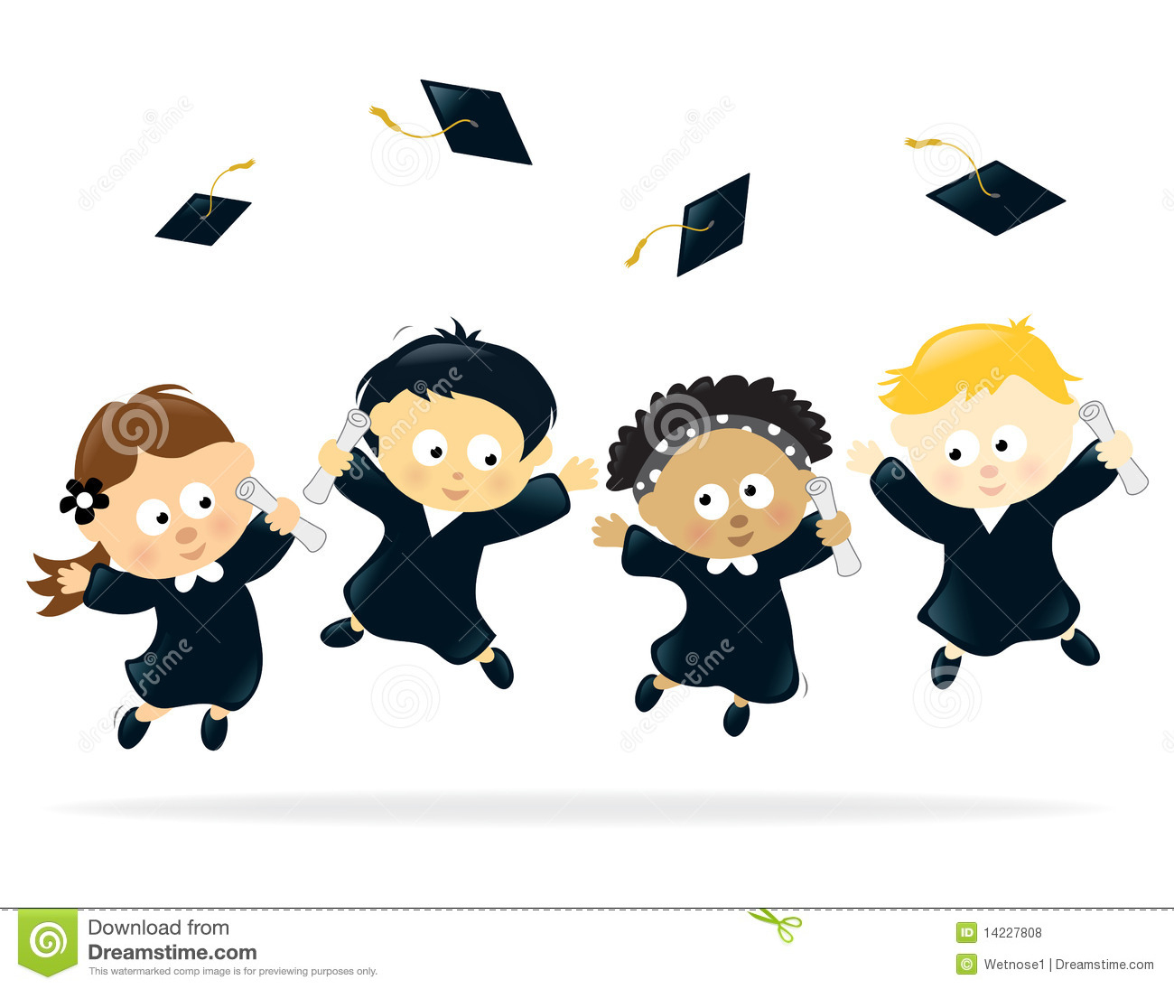 Preschool Graduation Clip Art Free Clipart Collection - Free Printable Kindergarten Graduation Clipart